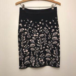 Bcbgmaxazria floral skirt